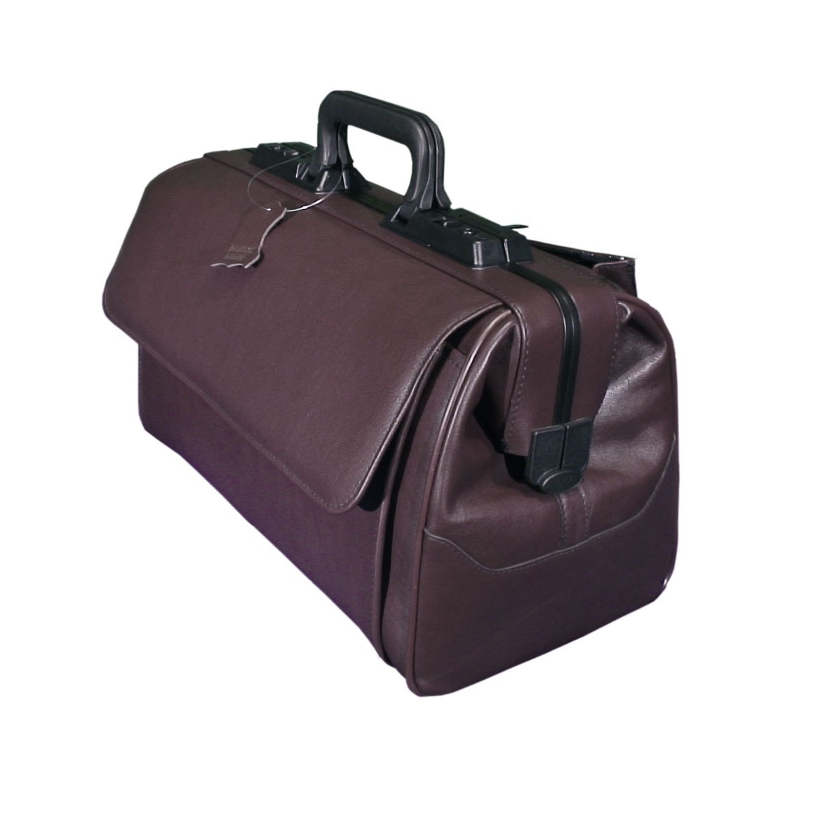 Rusticana case in Burgundy Cowhide - small - 2 outside pockets & Shoulder Strap