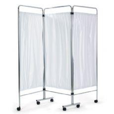 Select Chrome Ward Screen c/w curtains