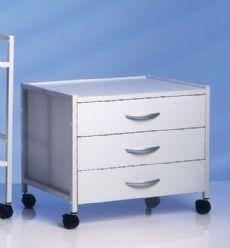 Select CliniLine Surgery Couch-Store Trolley with 3 Drawers